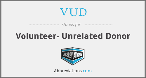 VUD - Volunteer- Unrelated Donor