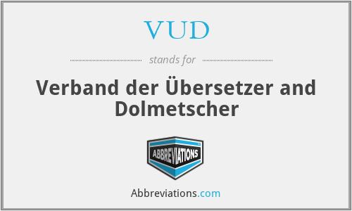VUD - Verband der Übersetzer and Dolmetscher