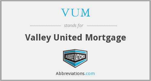 VUM - Valley United Mortgage