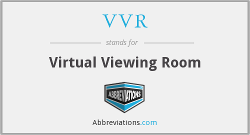 VVR - Virtual Viewing Room