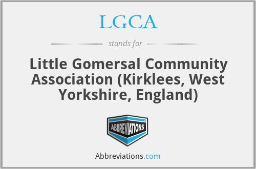 LGCA - Little Gomersal Community Association (Kirklees, West Yorkshire, England)