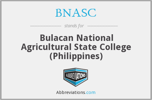 BNASC - Bulacan National Agricultural State College (Philippines)