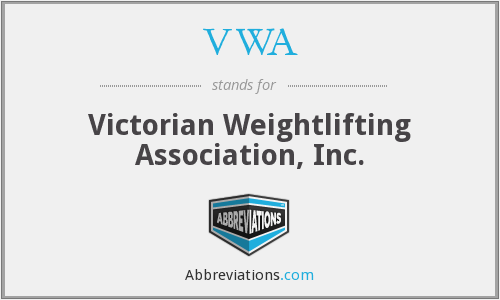 VWA - Victorian Weightlifting Association, Inc.