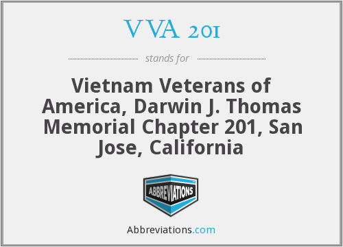 VVA 201 - Vietnam Veterans of America, Darwin J. Thomas Memorial Chapter 201, San Jose, California
