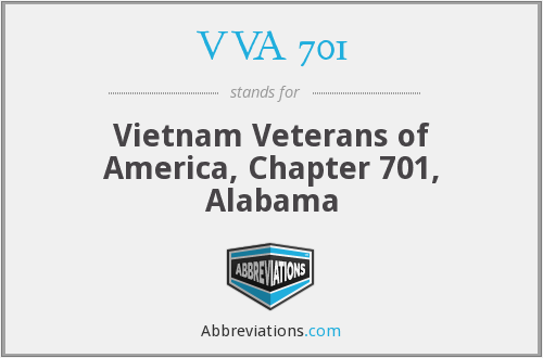 VVA 701 - Vietnam Veterans of America, Chapter 701, Alabama