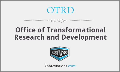 What does OTRD stand for?