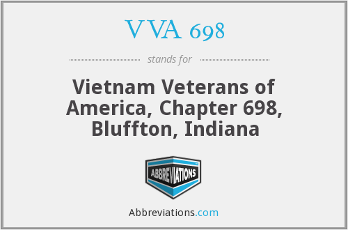 VVA 698 - Vietnam Veterans of America, Chapter 698, Bluffton, Indiana