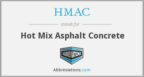 HMAC - Hot Mix Asphalt Concrete