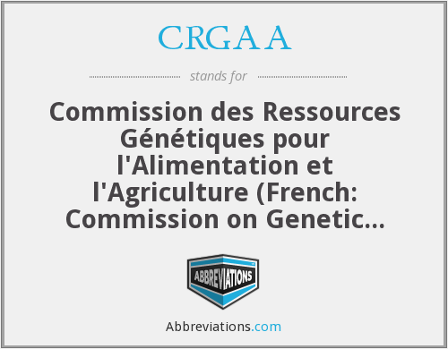 What does CRGAA stand for?