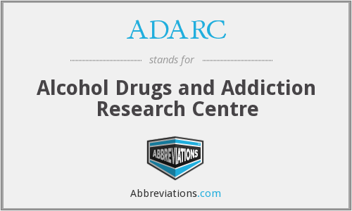 ADARC - Alcohol Drugs and Addiction Research Centre