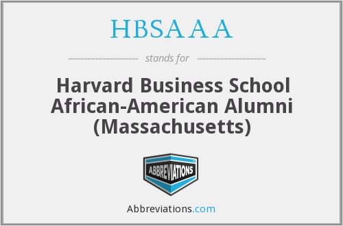 What does HBSAAA stand for?