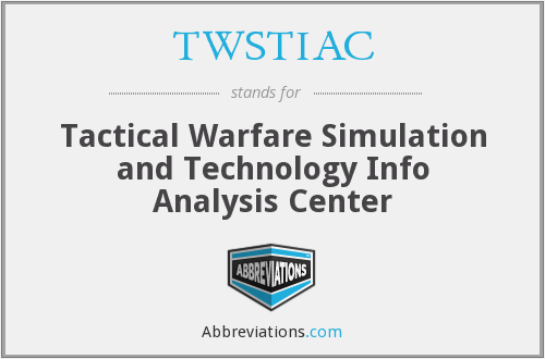 TWSTIAC - Tactical Warfare Simulation and Technology Info Analysis Center
