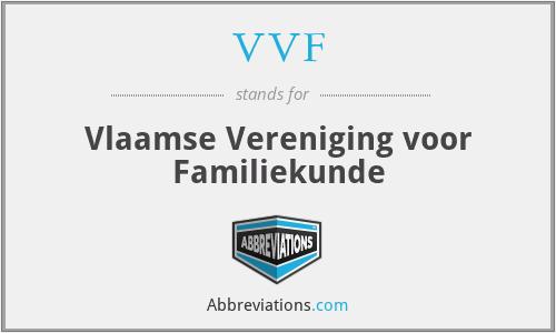 VVF - Vlaamse Vereniging voor Familiekunde