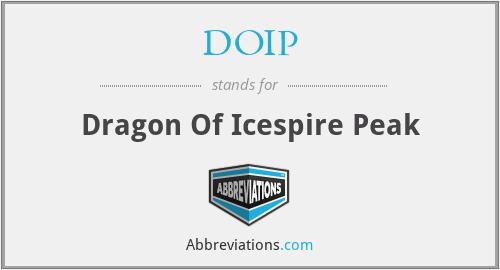 DOIP - Dragon Of Icespire Peak