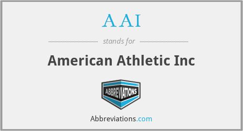 AAI - American Athletic Inc