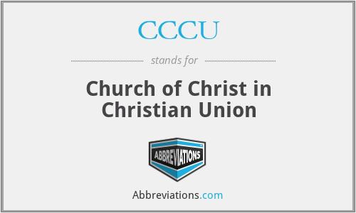 CCCU - Church of Christ in Christian Union