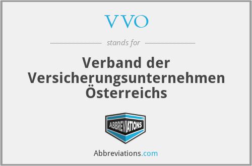 VVO - Verband der Versicherungsunternehmen Österreichs