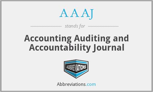 AAAJ - Accounting Auditing and Accountability Journal