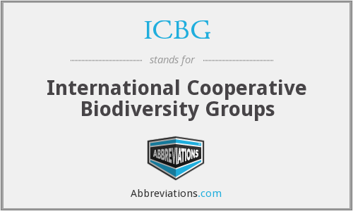 What does ICBG stand for?