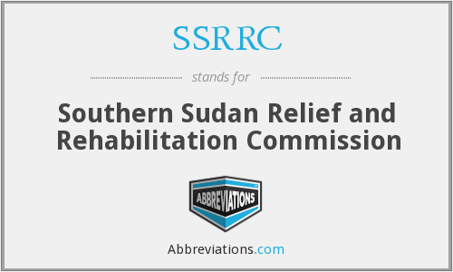 SSRRC - Southern Sudan Relief and Rehabilitation Commission