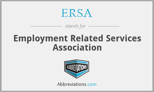 ERSA - Employment Related Services Association
