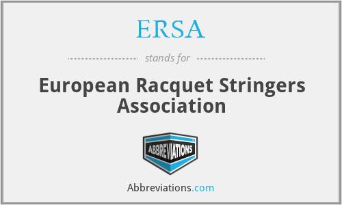 ERSA - European Racquet Stringers Association