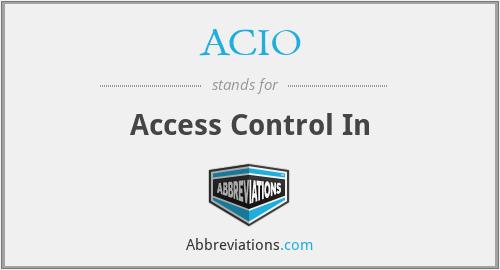 ACIO - Access Control In
