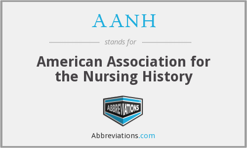 AANH - American Association for the Nursing History