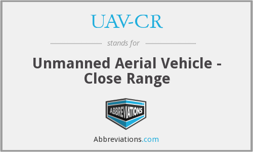 What does UAV-CR stand for?