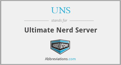 UNS - Ultimate Nerd Server