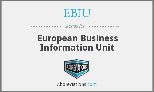 What does EBIU stand for?