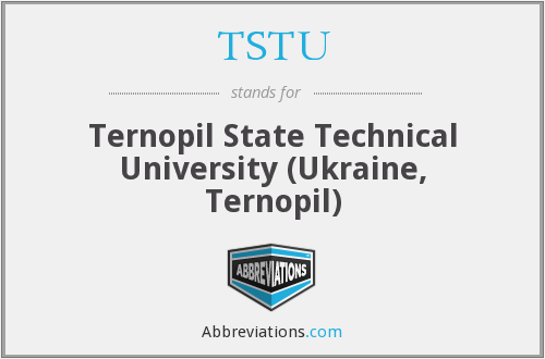 What does TSTU stand for?