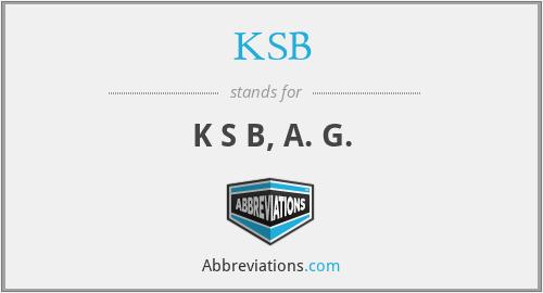 KSB - K S B, A. G.