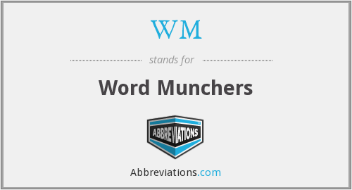 WM - Word Munchers