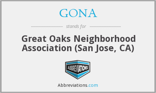 GONA - Great Oaks Neighborhood Association (San Jose, CA)