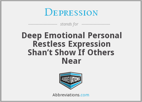 Depression - Deep Emotional Personal Restless Expression Shan't Show If Others Near