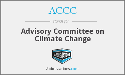 ACCC - Advisory Committee on Climate Change