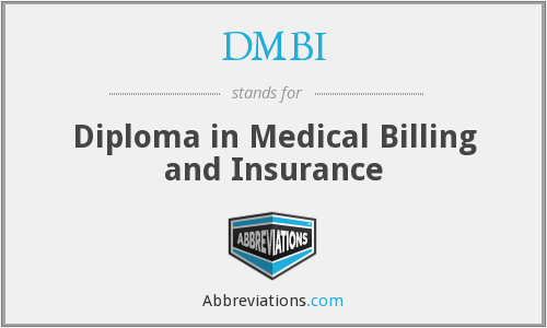 DMBI - Diploma in Medical Billing and Insurance