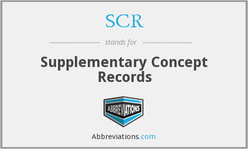 SCR - Supplementary Concept Records
