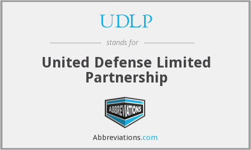 UDLP - United Defense Limited Partnership