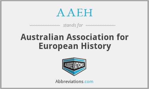 AAEH - Australian Association for European History