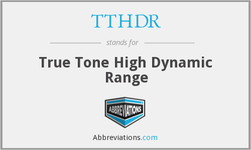 What does TTHDR stand for?