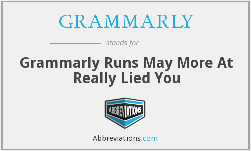 What does GRAMMARLY stand for?