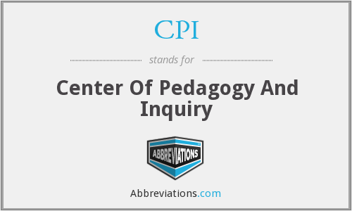 CPI - Center Of Pedagogy And Inquiry