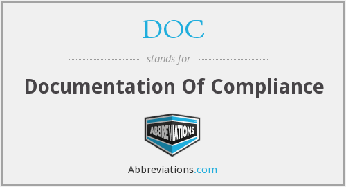 DOC - Documentation Of Compliance