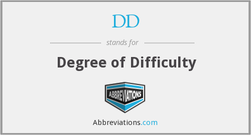 DD - Degree of Difficulty