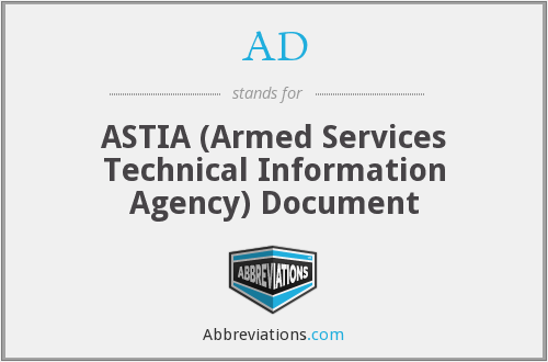 AD - ASTIA (Armed Services Technical Information Agency) Document