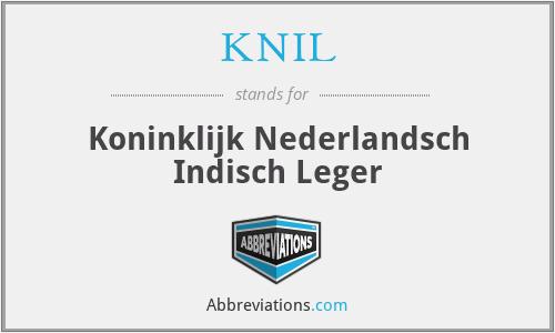 KNIL - Koninklijk Nederlandsch Indisch Leger
