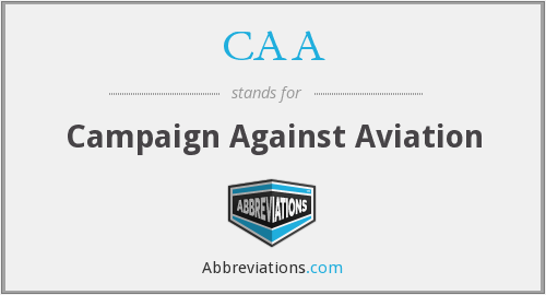 CAA - Campaign Against Aviation