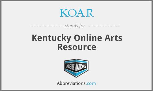 KOAR - Kentucky Online Arts Resource